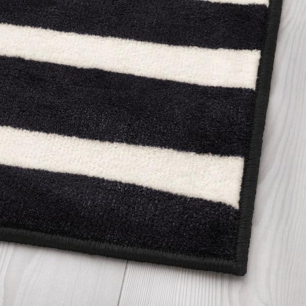 URSKOG Rug, low pile, zebra/striped, 133x133 cm