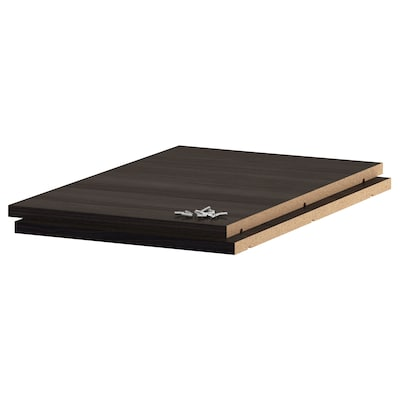 UTRUSTA Shelf, wood effect black, 40x60 cm