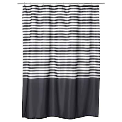 VADSJÖN Shower curtain, dark grey, 180x200 cm
