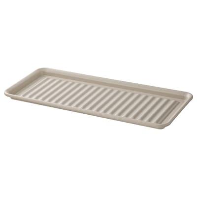 VÄLVÅRDAD Dish drainer, beige/galvanised, 15x35 cm