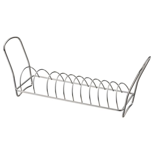 VÄLVÅRDAD Dish drying rack, stainless steel, 12x32 cm