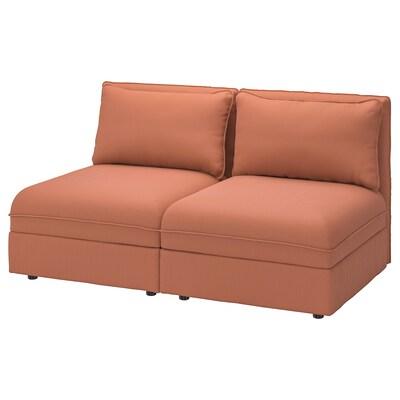 VALLENTUNA 2-seat modular sofa, with storage/Kelinge rust