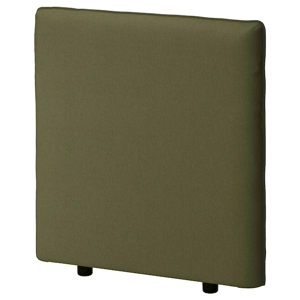 VALLENTUNA Backrest, Orrsta olive-green, 80x80 cm