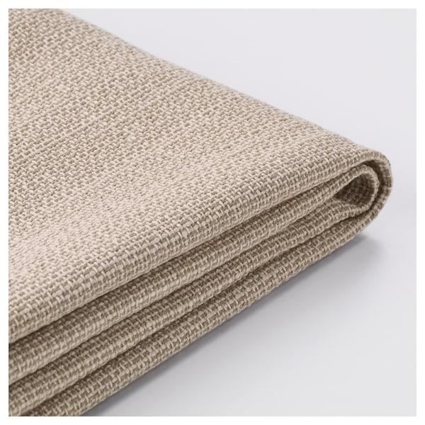 VALLENTUNA Cover for seat module with storage, Hillared beige