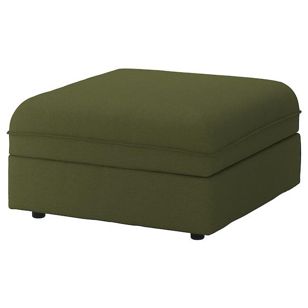 VALLENTUNA Seat module with storage, Orrsta olive-green