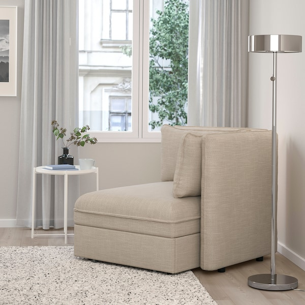 VALLENTUNA Sofa-bed module with backrests, Hillared beige