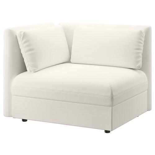 VALLENTUNA sofa-bed module with backrests Murum white 113 cm 93 cm 84 cm 45 cm 80 cm 200 cm