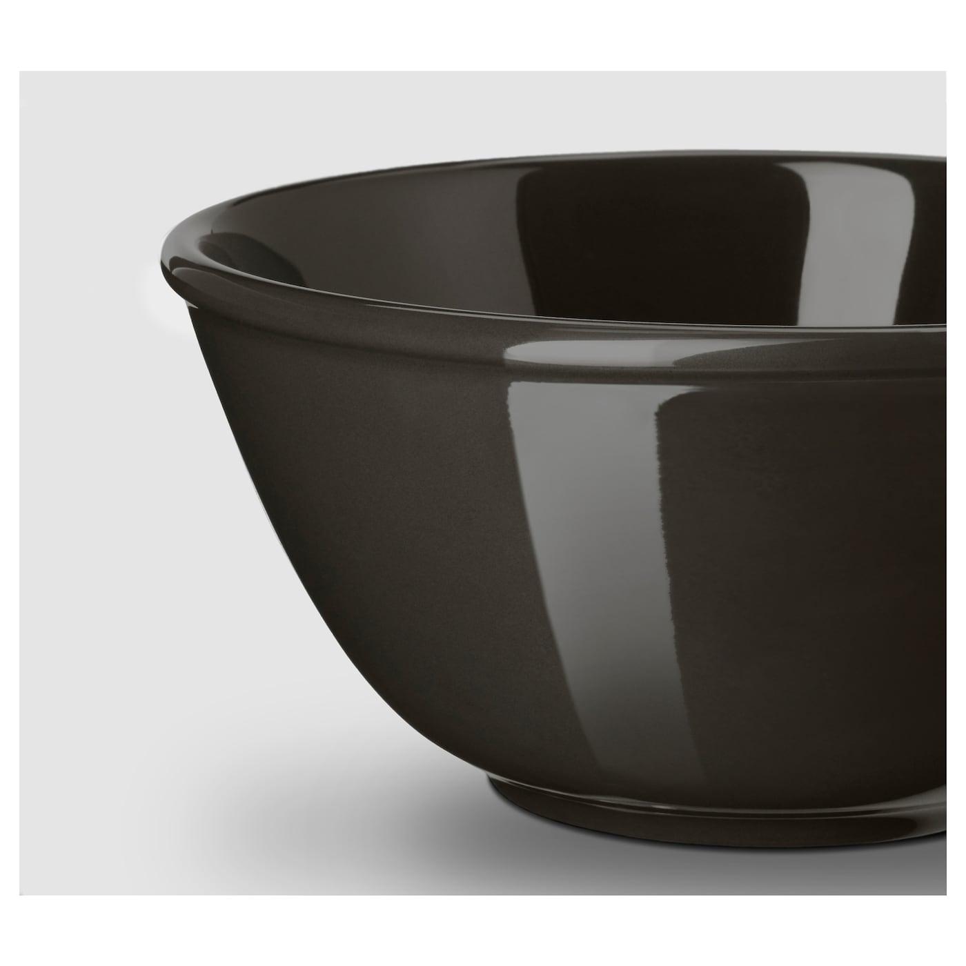 VARDAGEN Bowl, dark grey, 15 cm