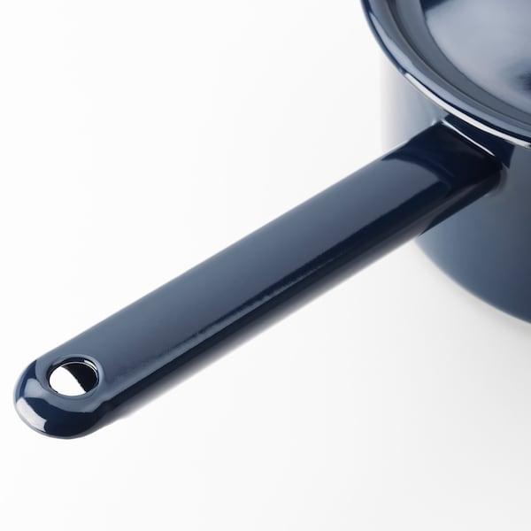 VARDAGEN Saucepan with lid, enamelled steel, 2 l