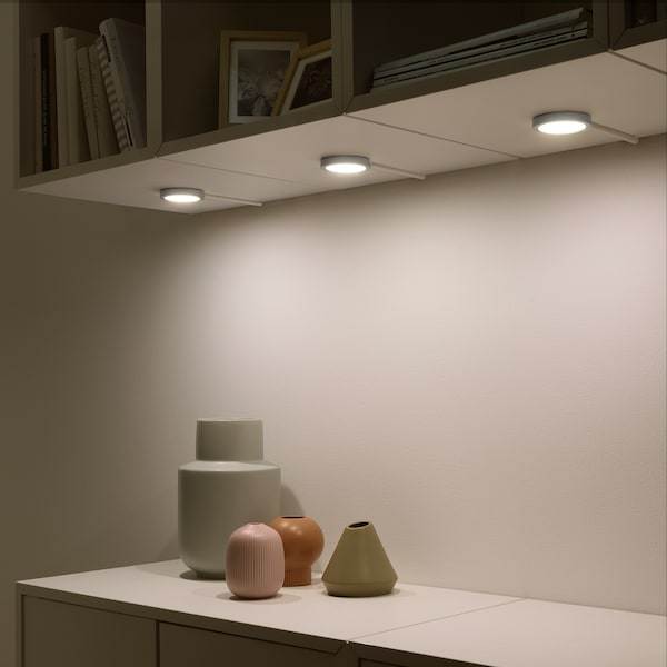 VAXMYRA مصباح موجّه LED, لون الومونيوم, 6.8 سم
