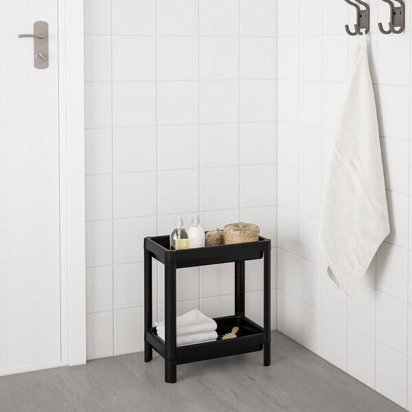 VESKEN Shelf unit, black, 36x23x40 cm