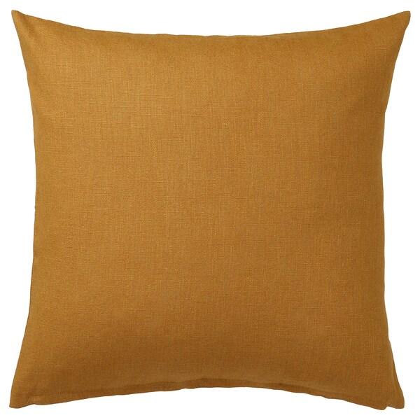 VIGDIS Cushion cover, dark golden-brown, 50x50 cm