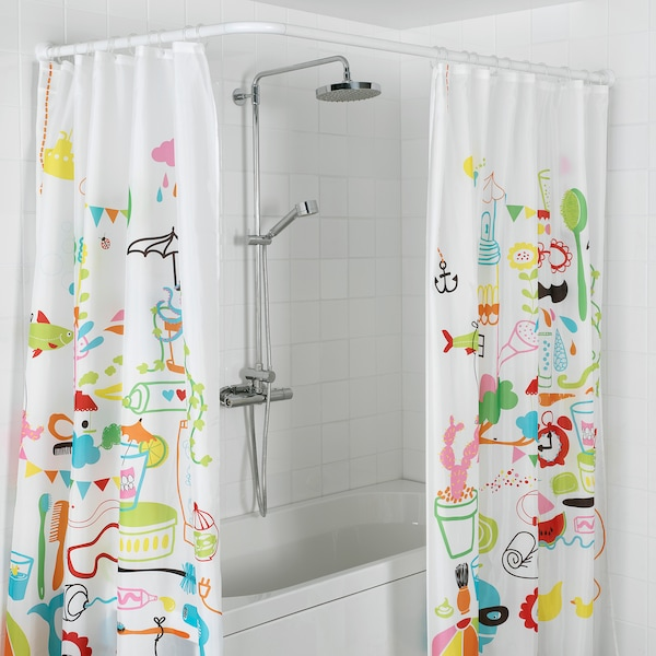 VIKARN shower curtain rod white 90 cm 160 cm