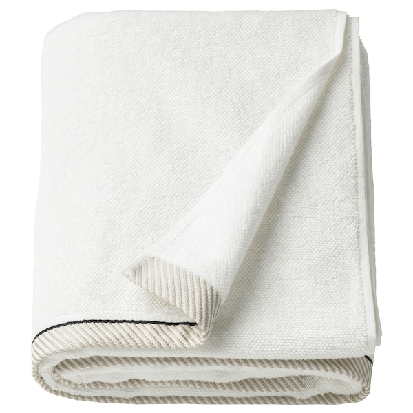 VIKFJÄRD Bath sheet, white, 100x150 cm