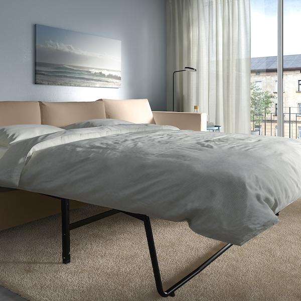 VIMLE 3-seat sofa-bed, Hallarp beige