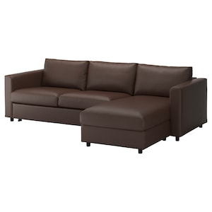Cover: With chaise longue/farsta dark brown.
