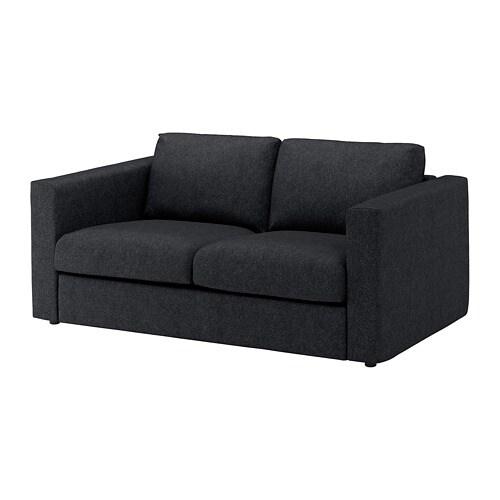 Vimle 2-seat Sofa - Tallmyra Black  Grey