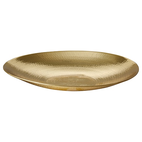 VINDFLÄKT bowl gold-colour 48 cm