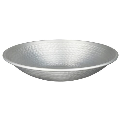 VINDFLÄKT decorative bowl silver-colour 5 cm 27 cm