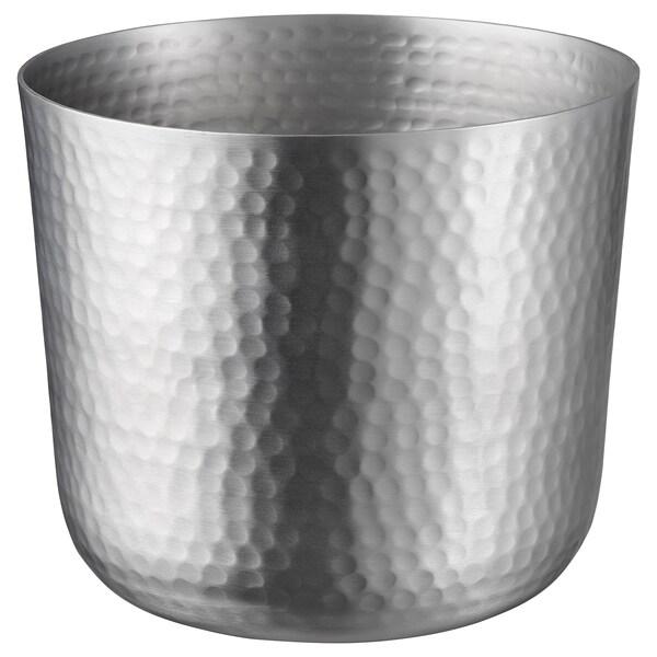 VINDFLÄKT plant pot silver-colour 19 cm 19 cm 15 cm 18 cm