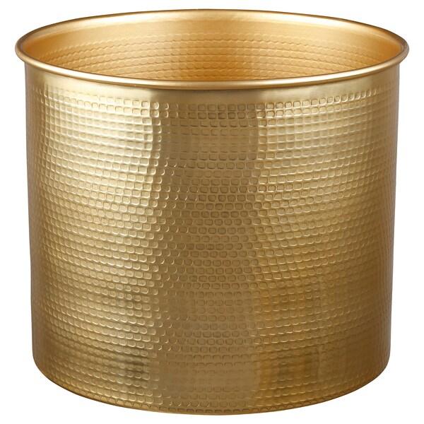 VINDFLÄKT vase gold-colour 32 cm