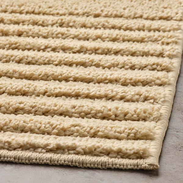 VINNFAR Bath mat, light beige, 40x60 cm