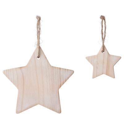 VINTER 2021 Hanging decoration, set of 2, star-shaped pine