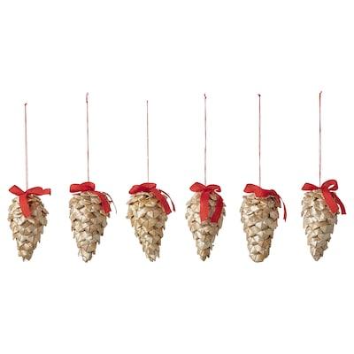 VINTER 2021 Hanging decoration, straw natural, 7 cm