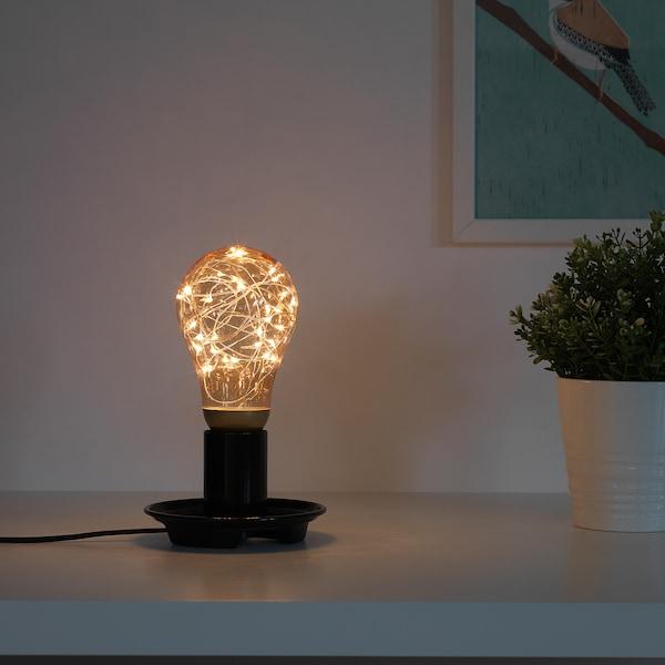 VINTERLJUS LED bulb E27 20 lumen gold-colour 2500 K 16.6 cm 90 mm 1 W