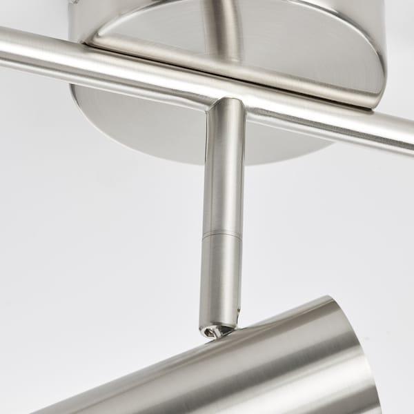 VIRRMO Ceiling track, 3-spots, nickel-plated