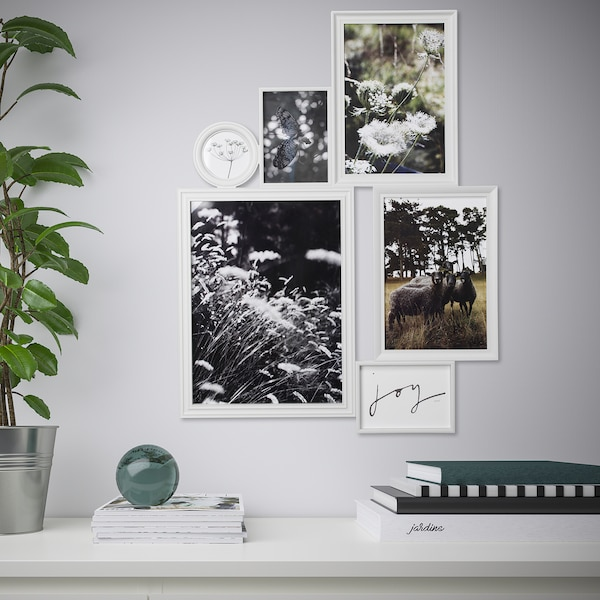 VITABY collage frame for 6 photos white 78 cm 59 cm