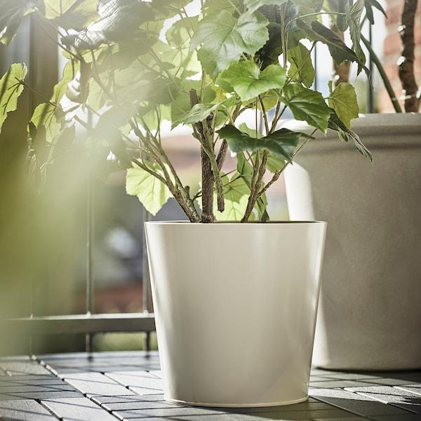 VITLÖK Plant pot, in/outdoor beige, 24 cm