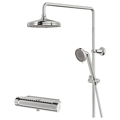 VOXNAN Shower set with thermostatic mixer, chrome-plated