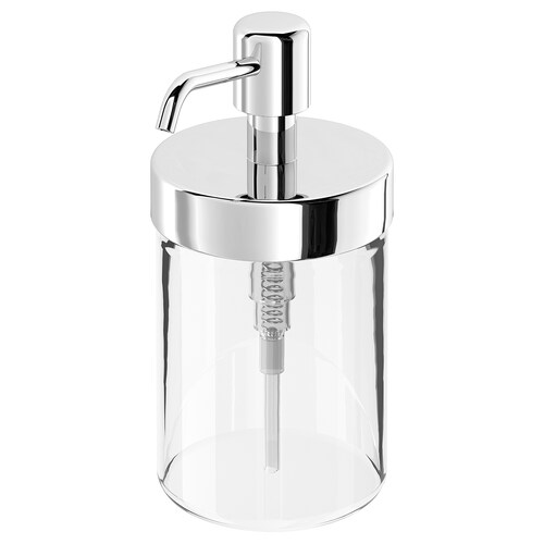 VOXNAN soap dispenser chrome effect 16 cm 350 ml