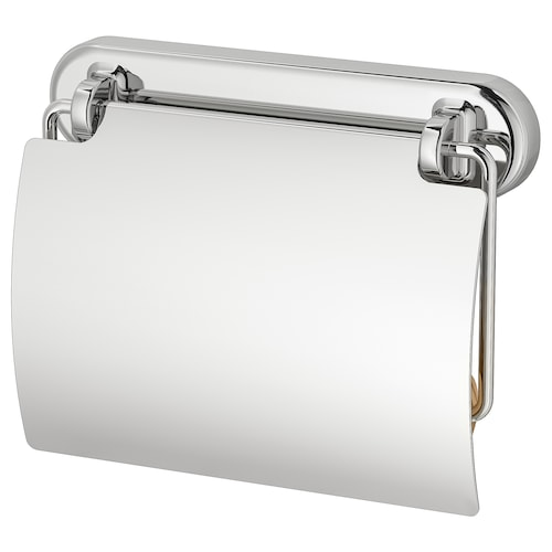 VOXNAN toilet roll holder chrome effect 14 cm