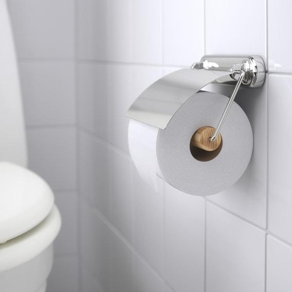 VOXNAN toilet roll holder chrome effect 14 cm