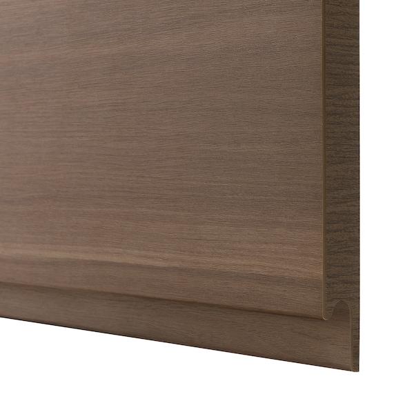 VOXTORP Door, walnut effect, 20x80 cm