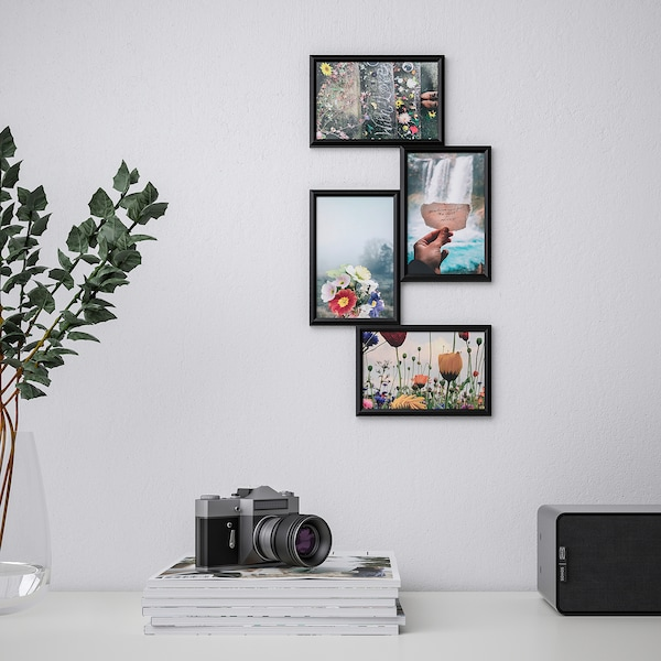 YLLEVAD collage frame for 4 photos black 21 cm 41 cm