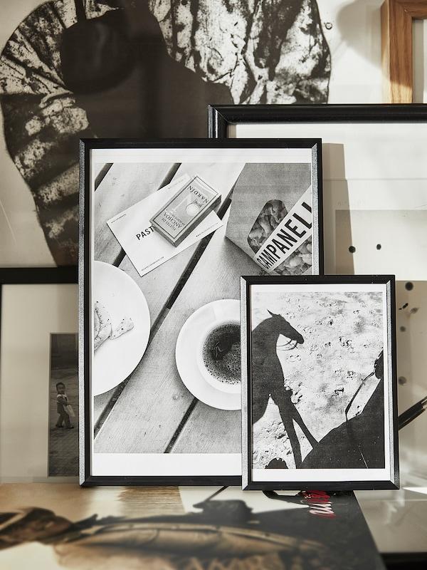 YLLEVAD Frame, black, 21x30 cm