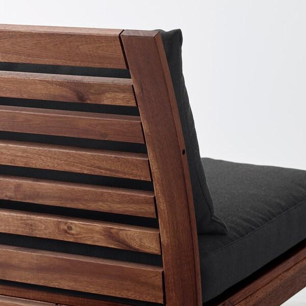 ÄPPLARÖ Fotoliu exterior, vopsit maro/Hållö negru, 63x80x78 cm