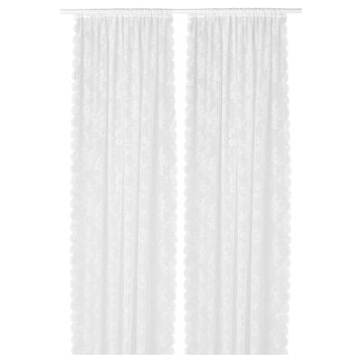 ALVINE SPETS Set perdele, 2buc., alb, 145x300 cm