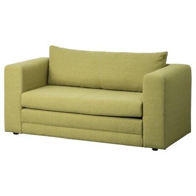 ASKEBY canapea extensibilă 2 locuri verde 149 cm 72 cm 72 cm 50 cm 38 cm 110 cm 198 cm