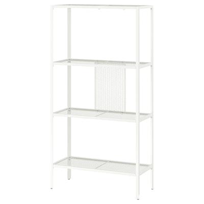 BAGGEBO Etajeră, metal/alb, 60x25x116 cm