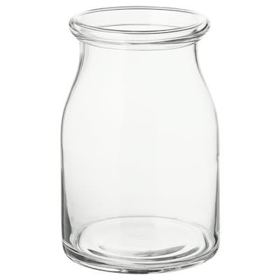 BEGÄRLIG Vază, sticlă transparentă, 29 cm