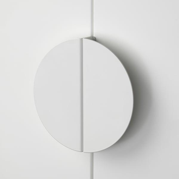 BEGRIPA Mâner, alb/semicerc, 130 mm