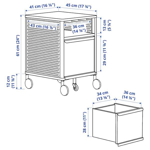 BEKANT Unitate depozitare + încuietoare, plasă de sârmă alb, 41x61 cm