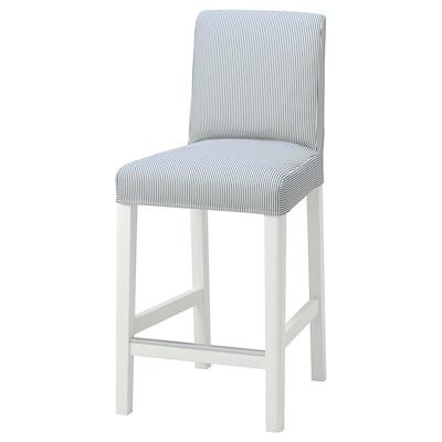 BERGMUND Husă scaun bar spătar, Rommele alb închis/alb