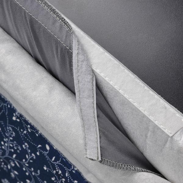 BERGMUND Husă scaun bar spătar, Ryrane albastru inchis