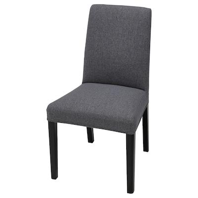 BERGMUND Husă scaun, Gunnared gri mediu