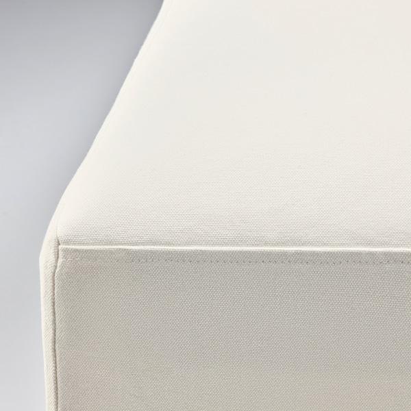 BERGMUND Husă scaun, lungime medie, Inseros alb